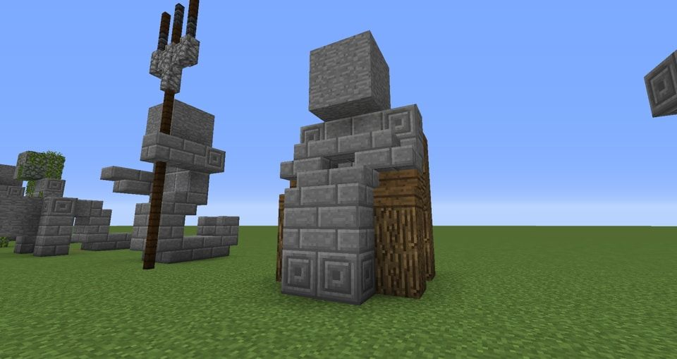 04 Minecraft Small Statues For Worlds Easy To Build MC