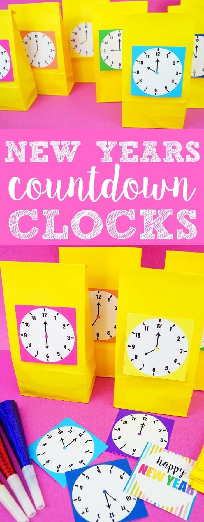 New Years Countdown Clock Kids new years eve, New years
