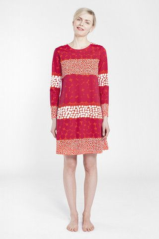 Marimekko Stormis Dress Red/Raspberry/White | Kiitos Marimekko
