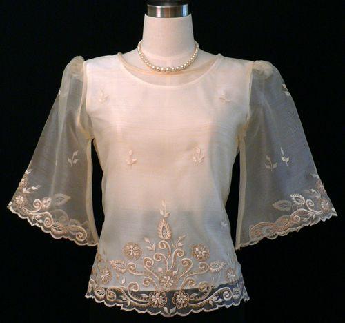 Simple Wedding Dresses Philippines: Beige Kimona With Alampay #5410