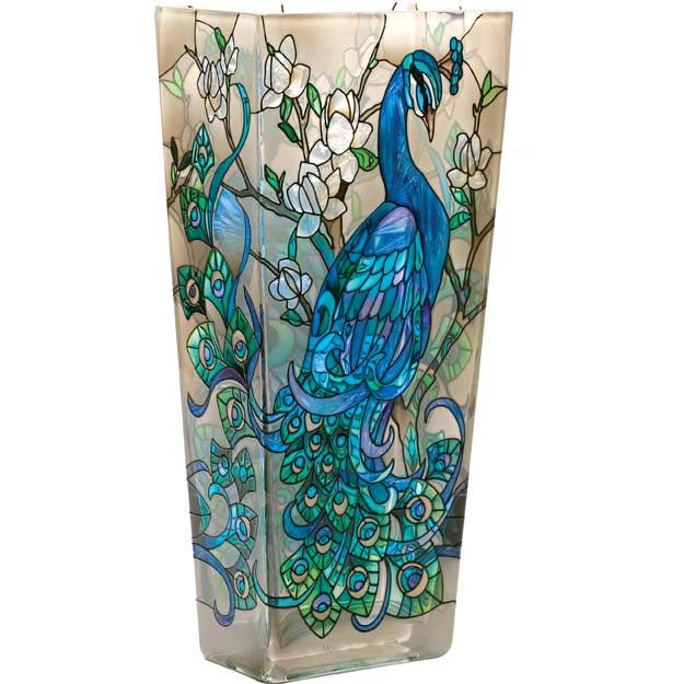Peacock Themed Bedroom Design Ideas | Glass Painting ...