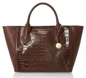 #Fiorelli #Mani #ChocCroc Shoulder #Handbag with Top Handle Design & Detachable Strap