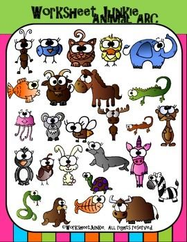 Alphabet Animals Clipart Animal Clipart Clip Art Animal Clipart Free