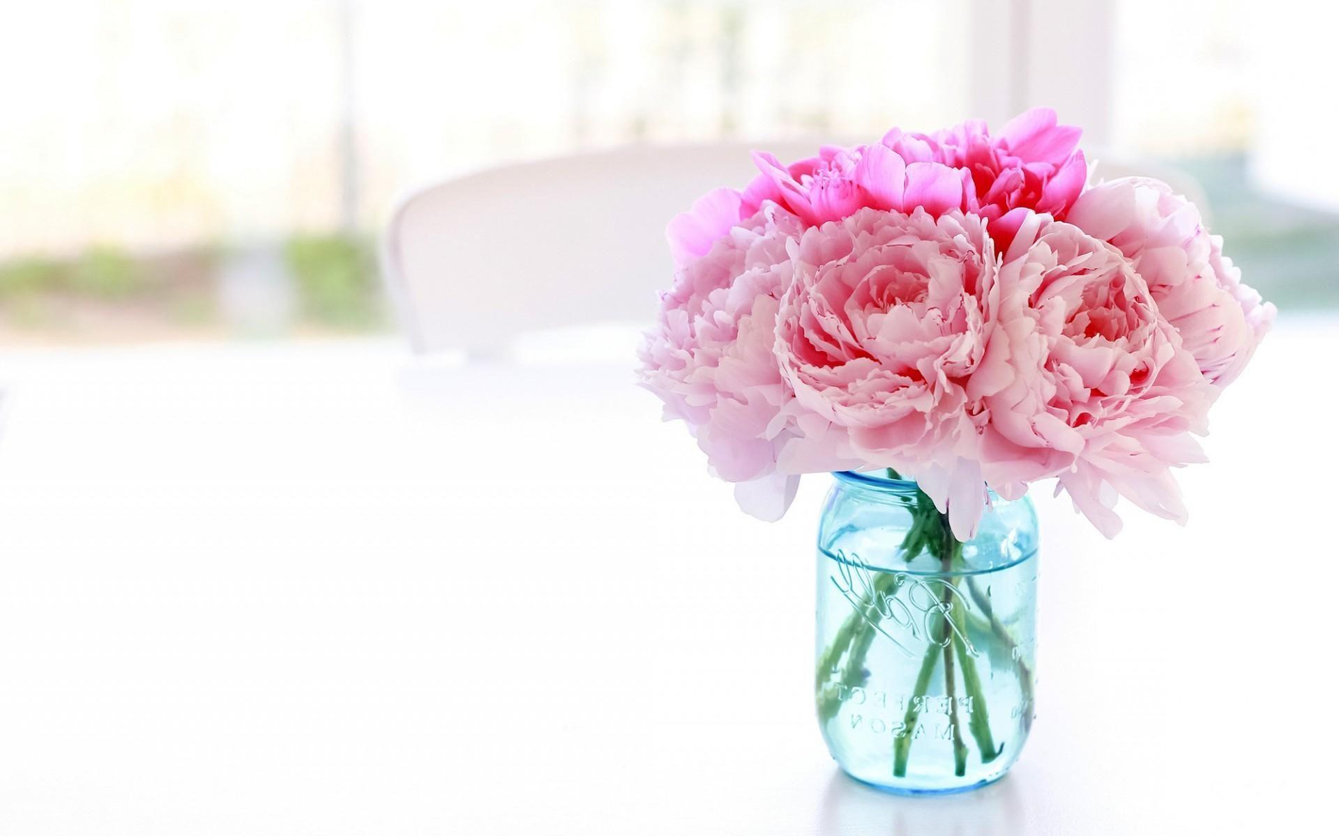 Peony Wallpaper Pink Flowers Flowers Fantastic flower vase wallpaper images