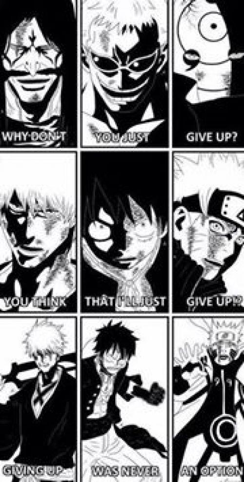 Never Give Up Otaku Anime Anime Crossover Awesome Anime
