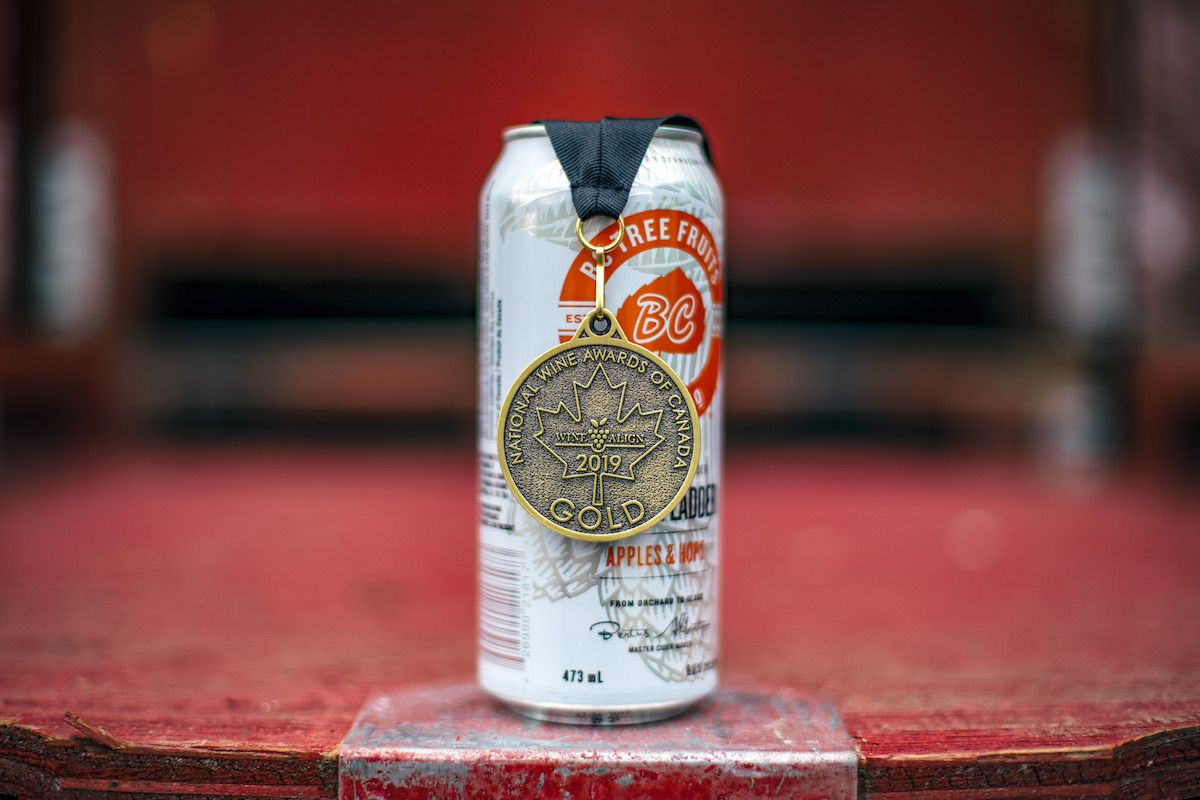 Bc Tree Fruits Cider Co Wins Gold Best Cider Of The Year At 2019 Winealign National Wine Awards Of Canada Cider Starbucks Double Shot Can Liquor Store