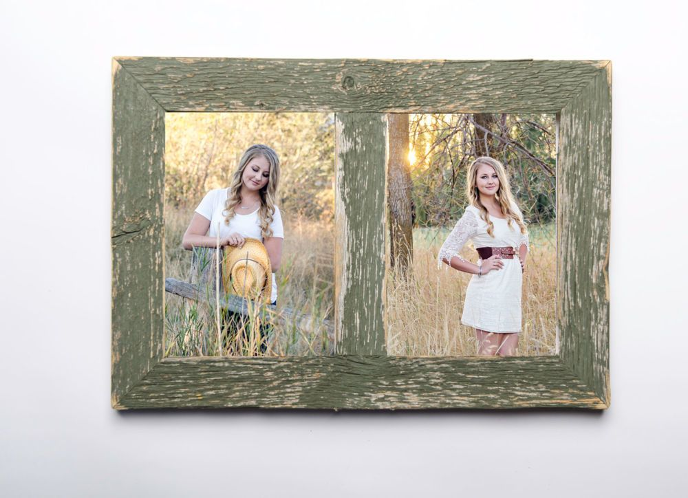 New rustic farmhouse barn wood 3 photo 4x6 picture collage 5x7 frame ...