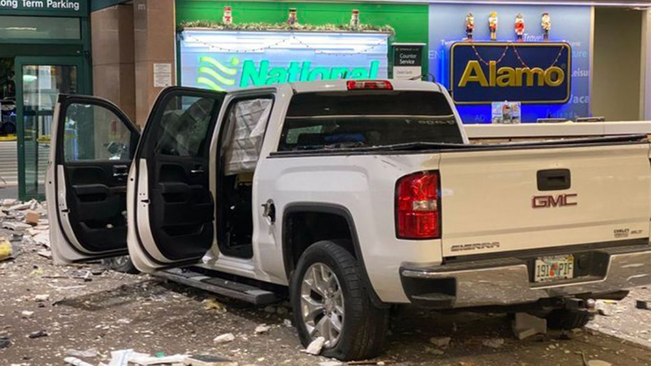 Pickup Truck Crashes Into Baggage Claim Area Of Sarasota Bradenton