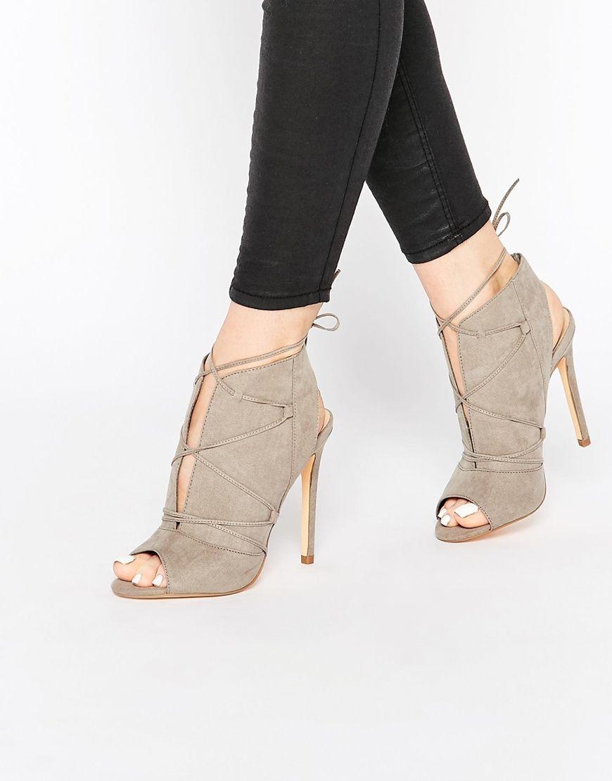 image 1 new look chaussures en su dine talons et lacets sandales pinterest dentelle. Black Bedroom Furniture Sets. Home Design Ideas