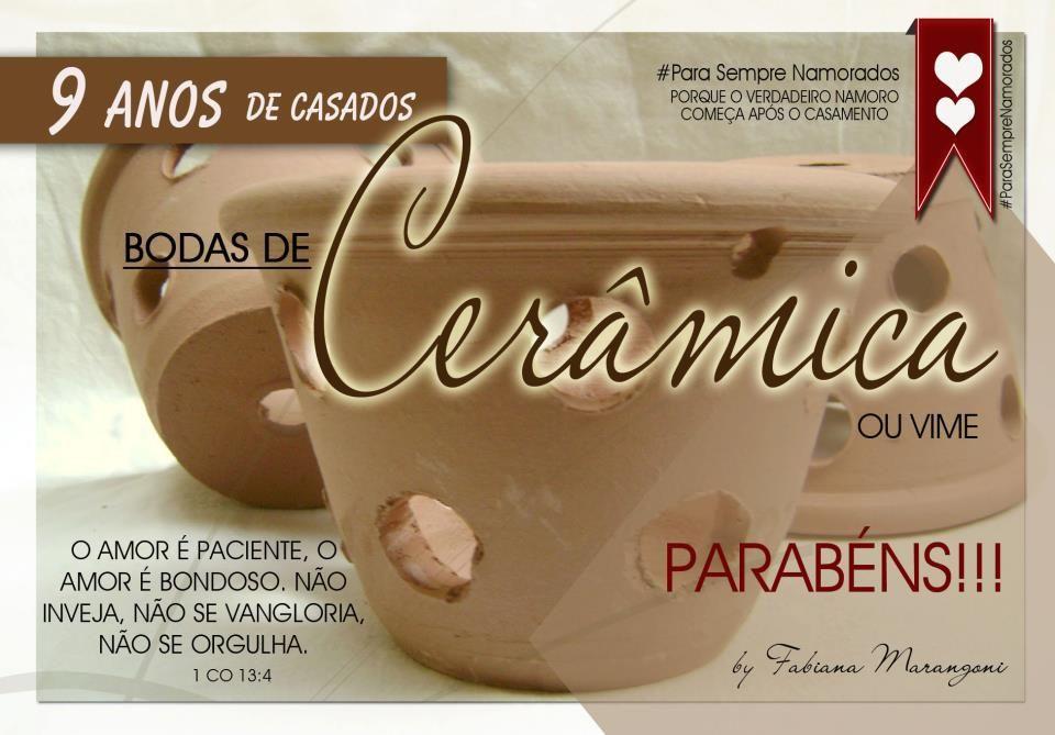 Bodas De Casamento 1 A 10 Anos Com Imagens Bodas De Ceramica