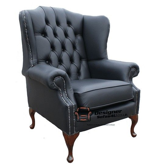 Marvelous Chesterfield Mallory Flat Wing Queen Anne High Back Wing Machost Co Dining Chair Design Ideas Machostcouk