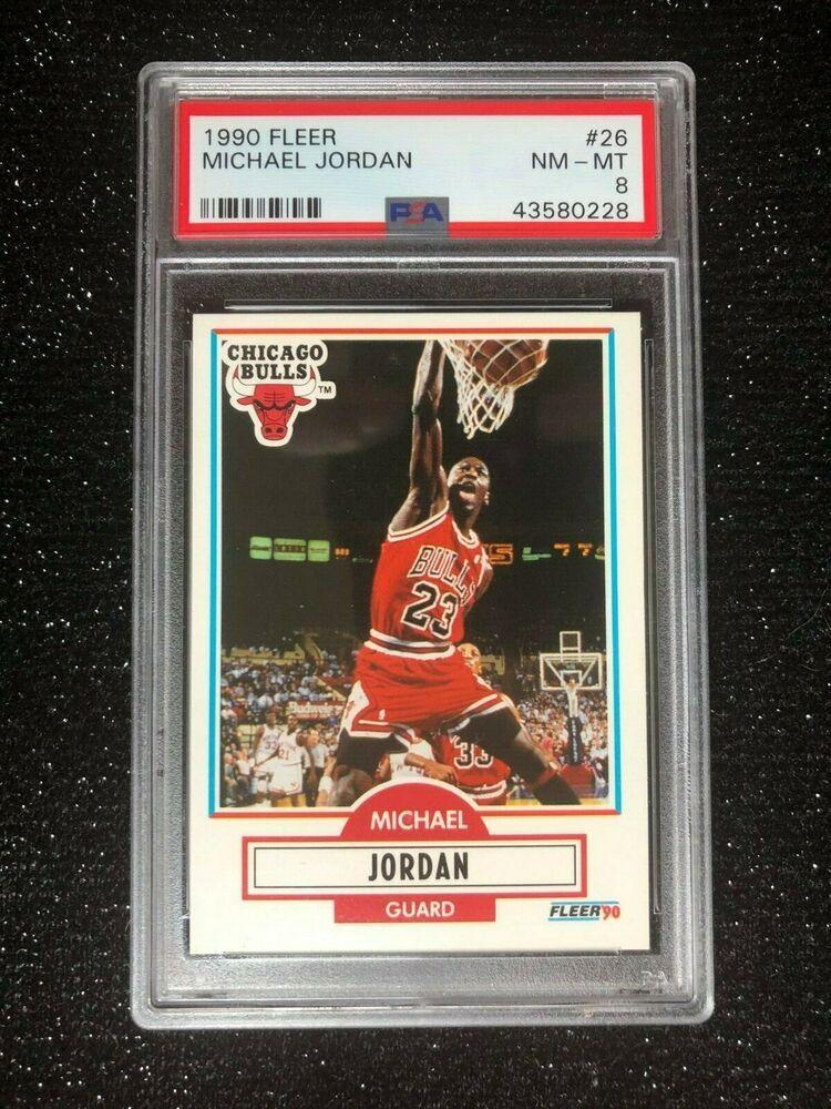 1990 fleer michael jordan 26 basketball card chicago