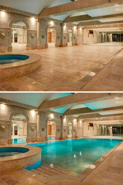 Ballroom floor doubles as hidden swimming pool