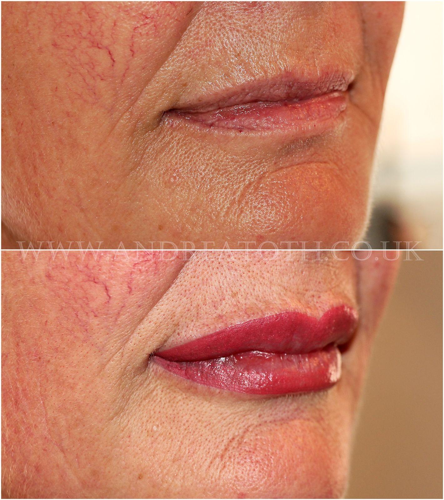 Lip semi permanent makeup