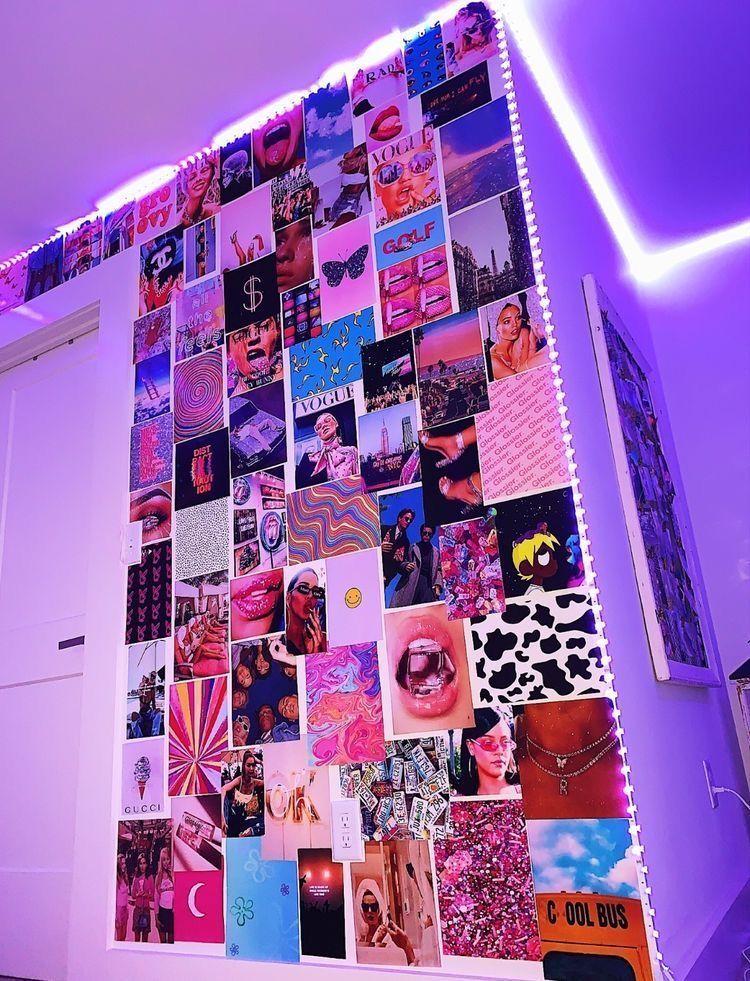Photo of #wall decor bedroom teenagers tumblr Edge LED Purple Lights 💜