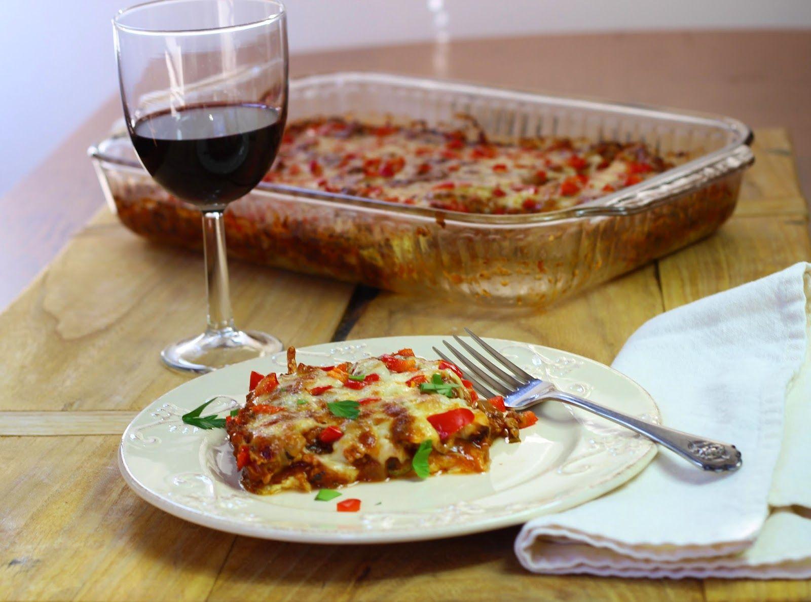 Burp!: Pizza Casserole with Zucchini Crust