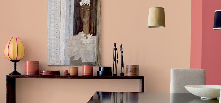 Dulux Paint Nigeria Living Room Wall Painted In Soft Orange