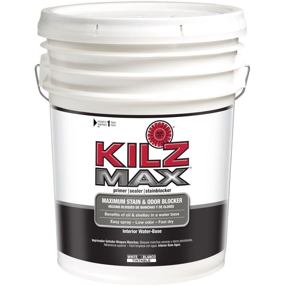 Kilz Restoration 5 Gal White Interior Primer Sealer And Stain Blocker L200205 Water Based Primer Kilz Interior Primer