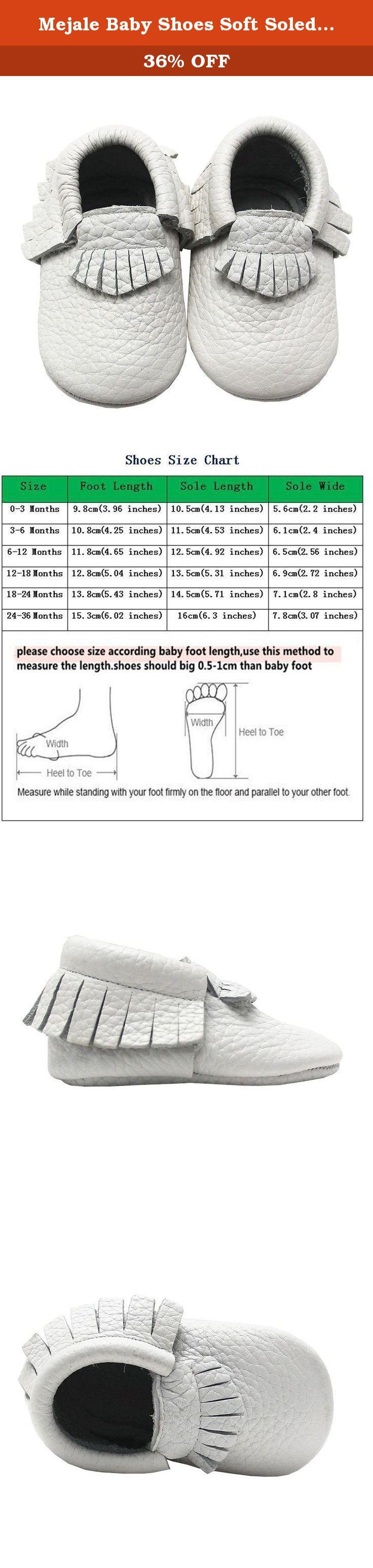 Mejale Baby Shoes Soft Soled Leather Moccasins Slip on Infant