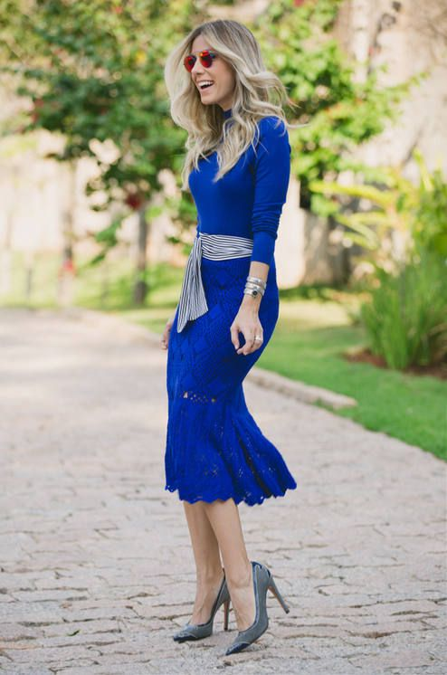 Blue Knitted Skirt Streetstyle  # #Spring Trends #Fashionistas #Best Of Spring Apparel #Streetstyle Blue Knitted Skirt #Blue Knitted Skirt Streetstyle How To Wear #Blue Knitted Skirt Streetstyle 2015 #Blue Knitted Skirt Streetstyle Where To Get #Blue Knitted Skirt Streetstyle How To Style