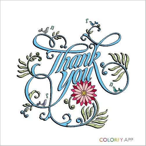Cover for Thank you card