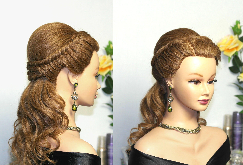 easy prom hairstyles for long hair, bridal hairstyle tutorialbraid