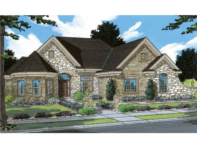 Eplans French Country House Plan - Convenient Everyday Living - 4160 Square Feet and 3 Bedrooms from Eplans - House Plan Code HWEPL07798