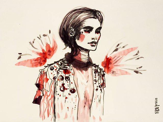 La fleur cassée | #inktoberday10 #inktober9 #broken #looonalou #Kunst #Mode #kuretakeinktober2016 #inktober inspired by @julienfournie