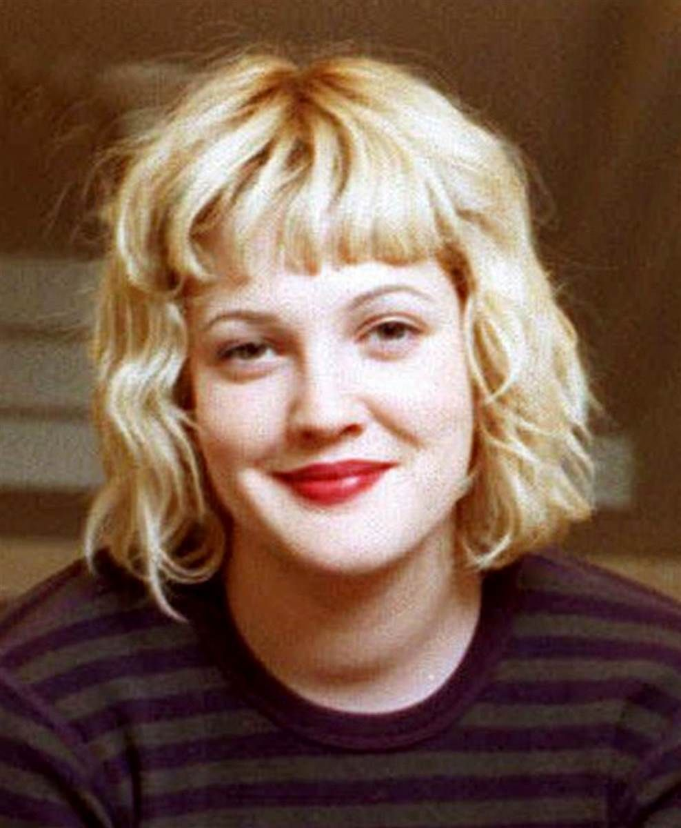 Drew Barrymore Blonde Hair With Fringe With Images Drew