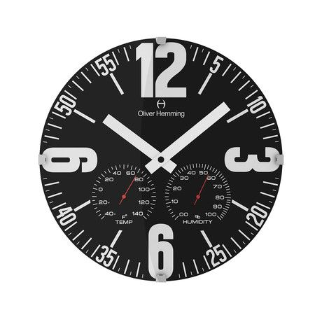 12 Domed Glass Weather Station Wall Clock W300dg65bf Clock Wall Clock Round Wall Clocks
