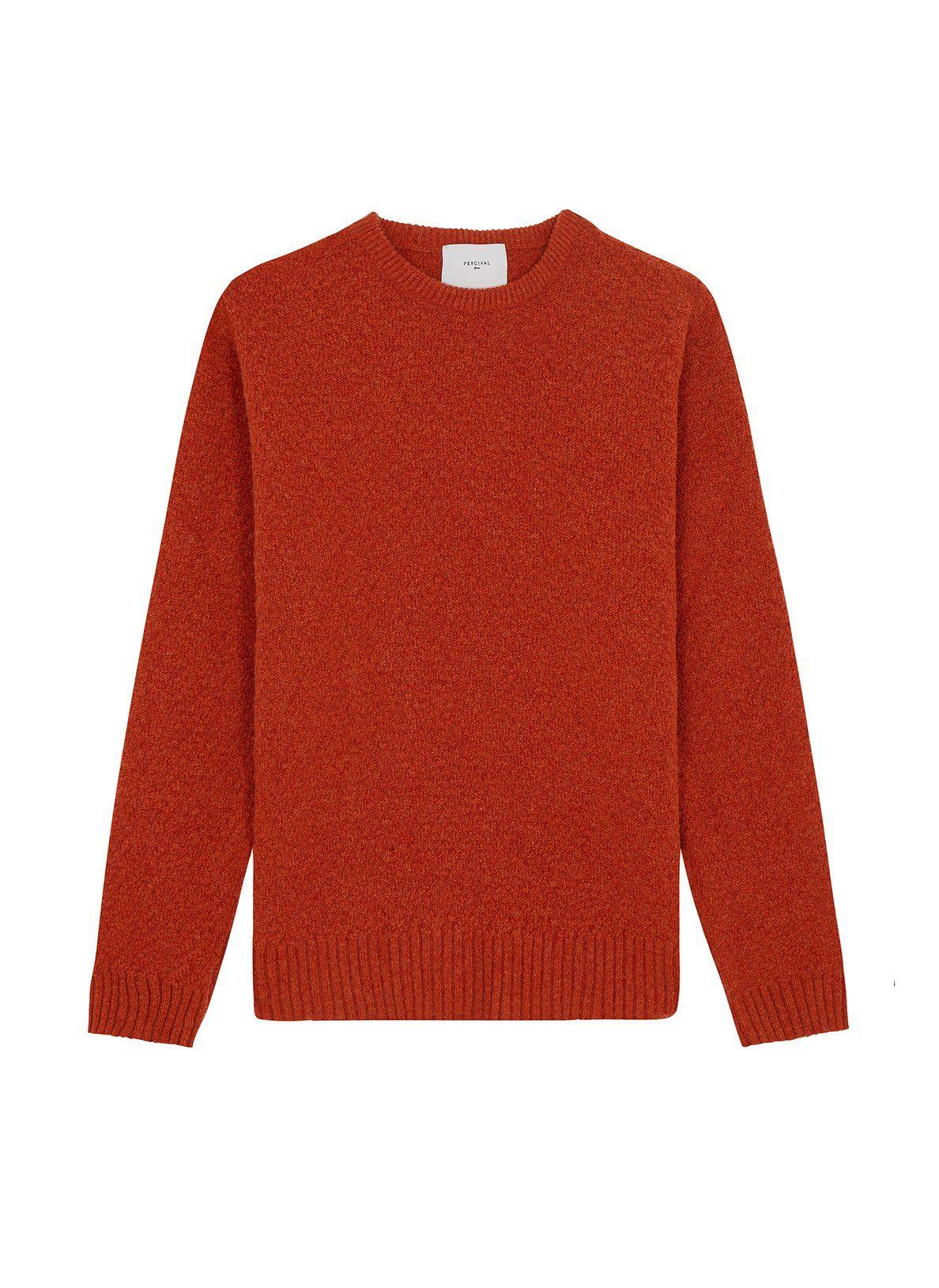 Lambs Wool Tama Weave Burnt Orange Burnt Orange Lambswool Wool [ 1629 x 1188 Pixel ]