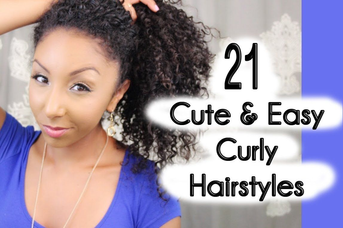 Quick And Easy Hairstyles For Thick Curly Hair Easy