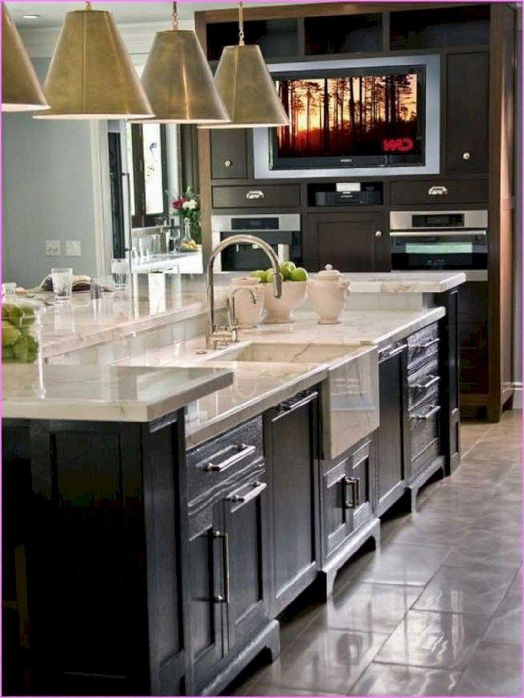 52 Farmhouse Sink Pros Cons Kitchen Layout Kitchen Island With Sink Kitchen Island Storage