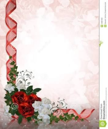 Red Border Design For Wedding Invitation Google Search
