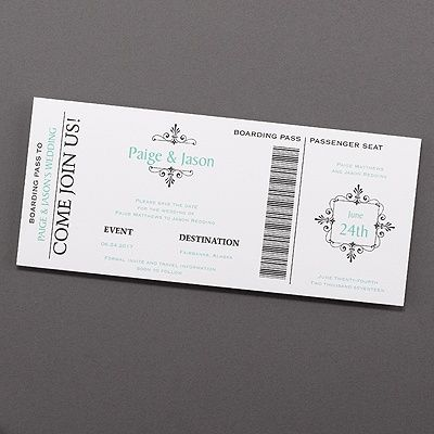 Boarding Pass Save The Date 40 Off Http Mediaplus Carlsoncraft