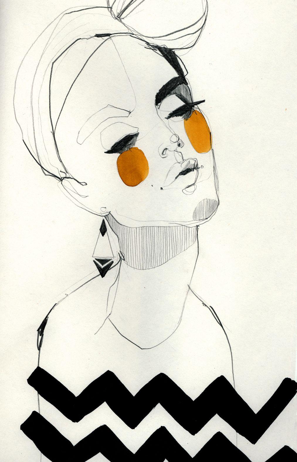 Fashion illustration - beautifully chic, fashion drawing // Ekaterina Koroleva
