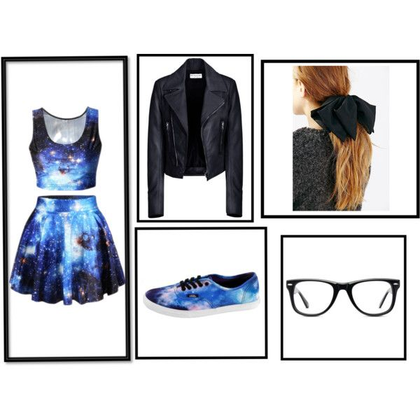 Galaxy by bethany-robison on Polyvore featuring Balenciaga, Muse and Vans