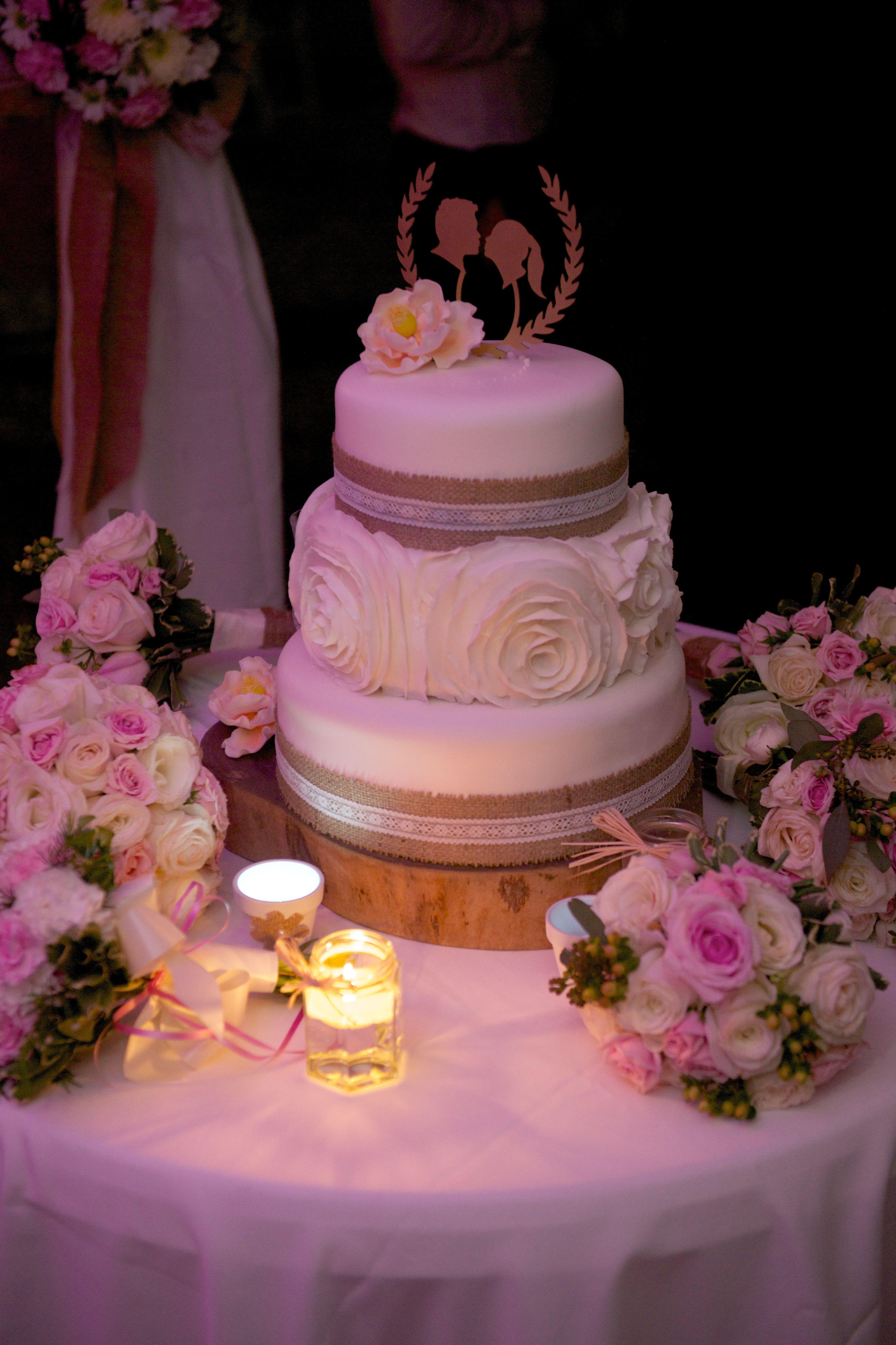 Lauren and Simon Tempro Wedding Cake. Custom made digital topper of ...