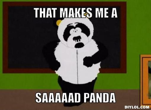Sexual harassment panda bar scene art