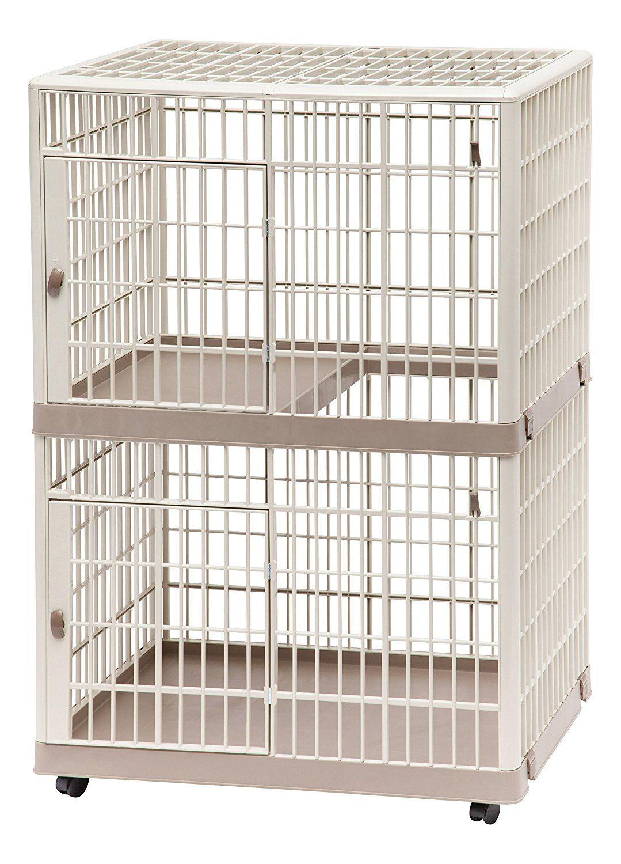 Iris 2 Tier Cat Cage Tan Cat Cages Cat Condo Cage
