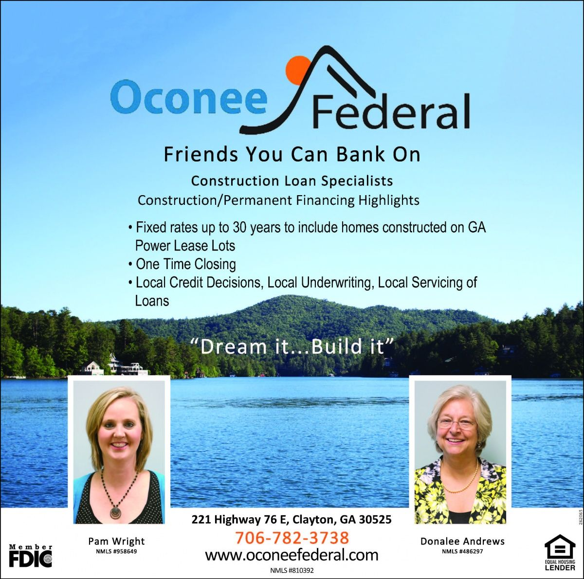 Pam Wright Donalee Andrews Friends You Can Bank On Construction