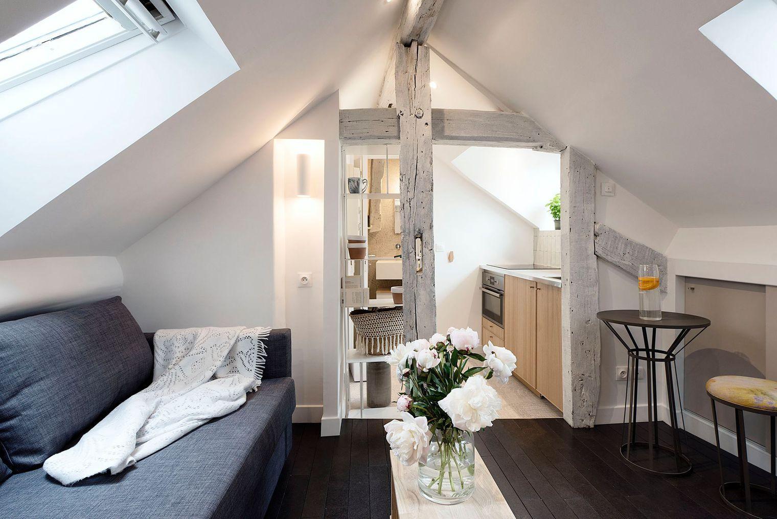 Amenager Un Studio En Longueur Amenagement Studio Chambre De Bonne Petit Appartement