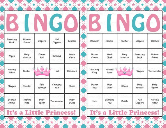 60 Baby Shower Bingo Cards Printable Baby Girl Instant Download
