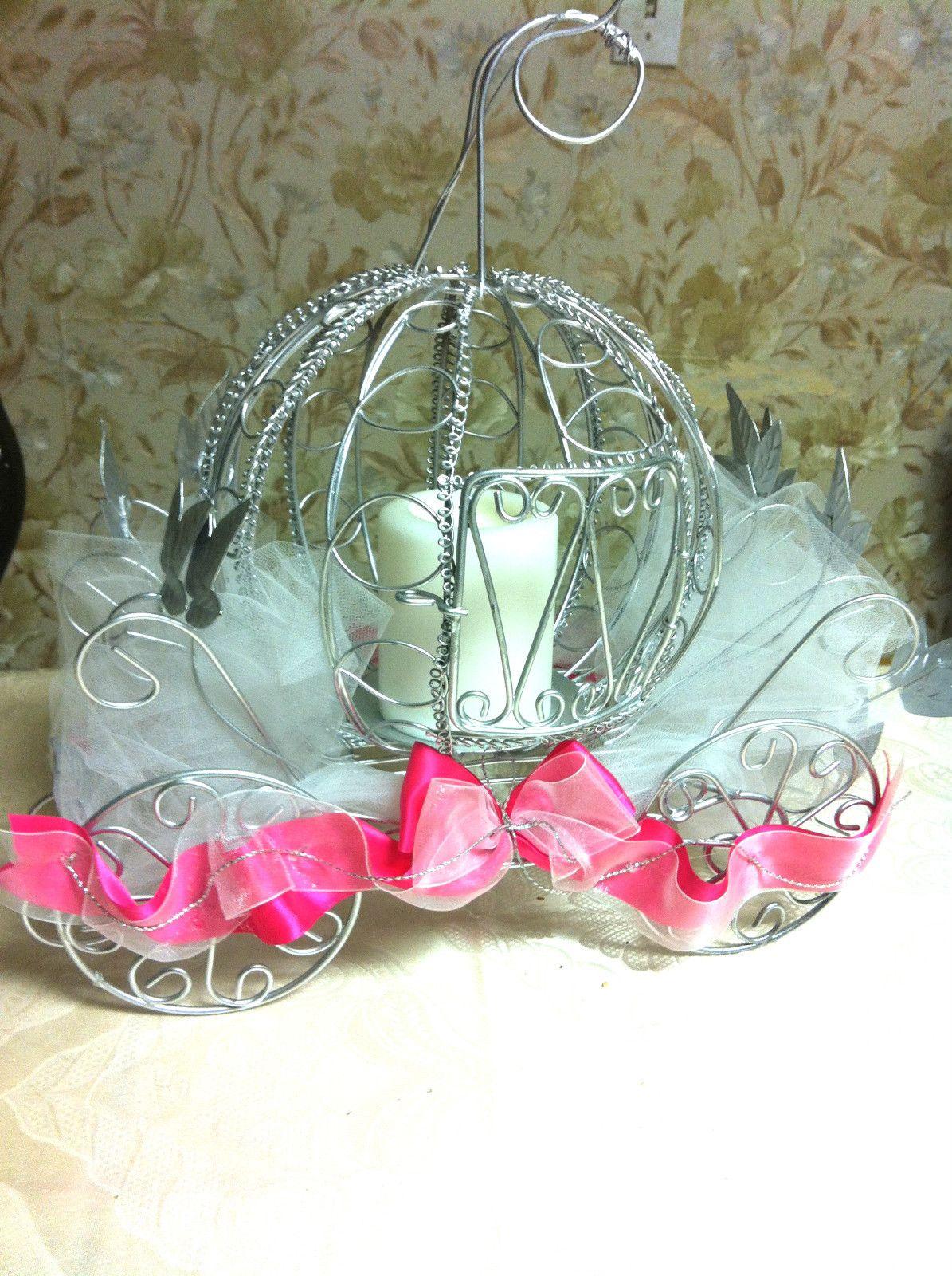 Cinderella Coach Centerpiece Wedding Pinterest Centerpieces