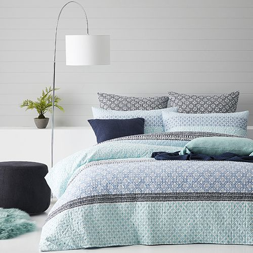 Treviso Quilted Ocean Quilt Cover Quilt Cover Ocean