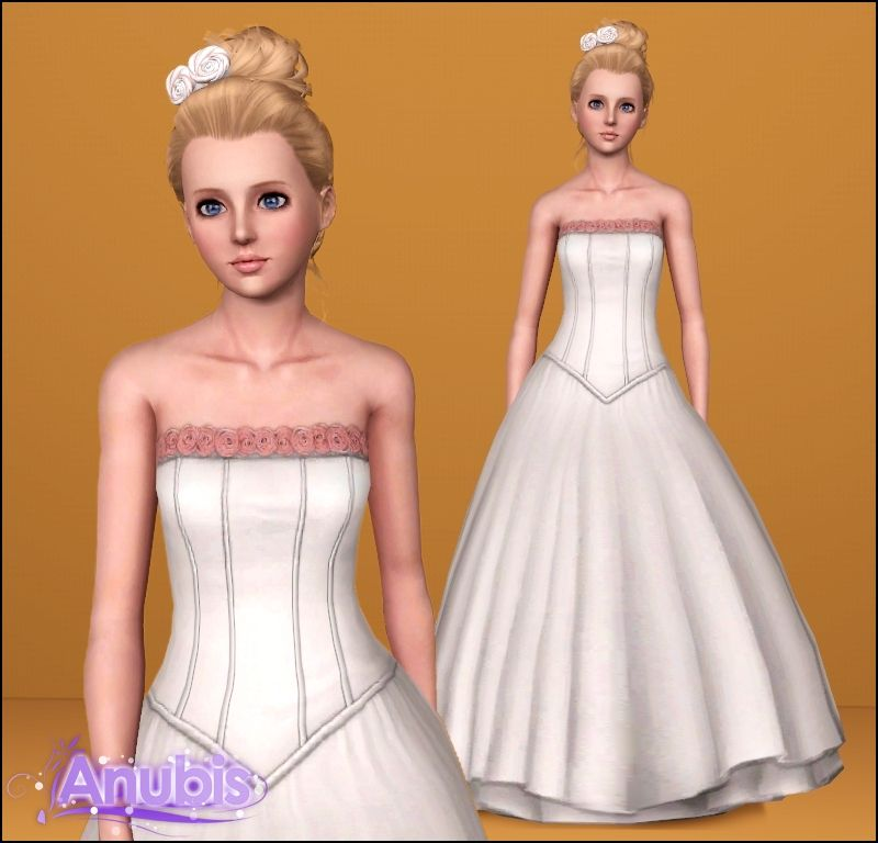 Sugar Flower Wedding Dress By Anubis