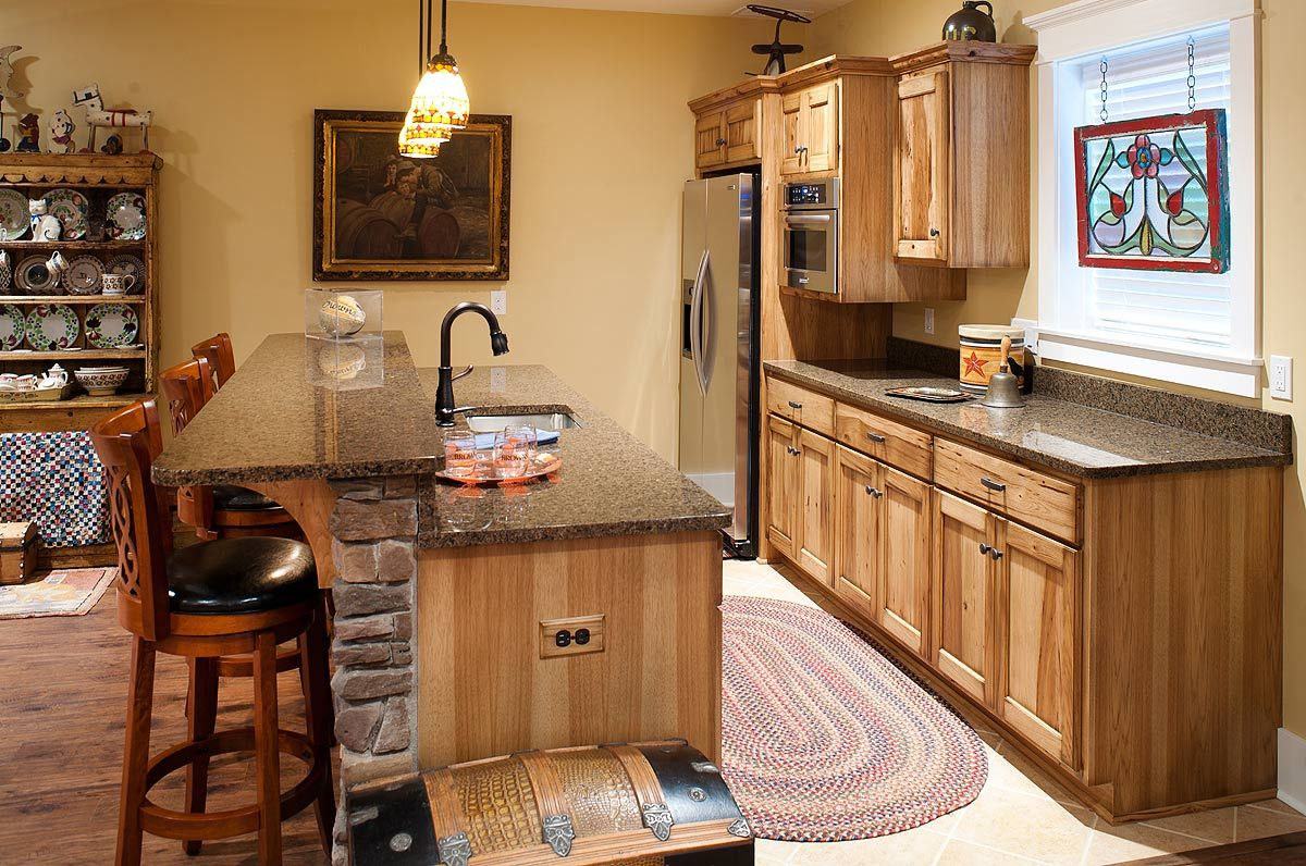 Rustic Hickory Kitchen Cabinets Rustic Hickory Pub