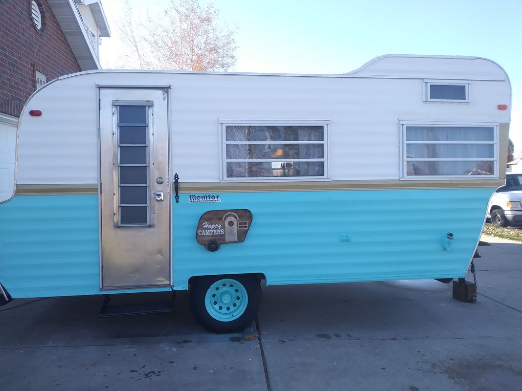 Gorgeous Custom Trailer Re Sealed Roof And Added Fan Vent New Flooring Curtains And Upholstery Ceiling And White Ship Vintage Camper Remodels Vinta