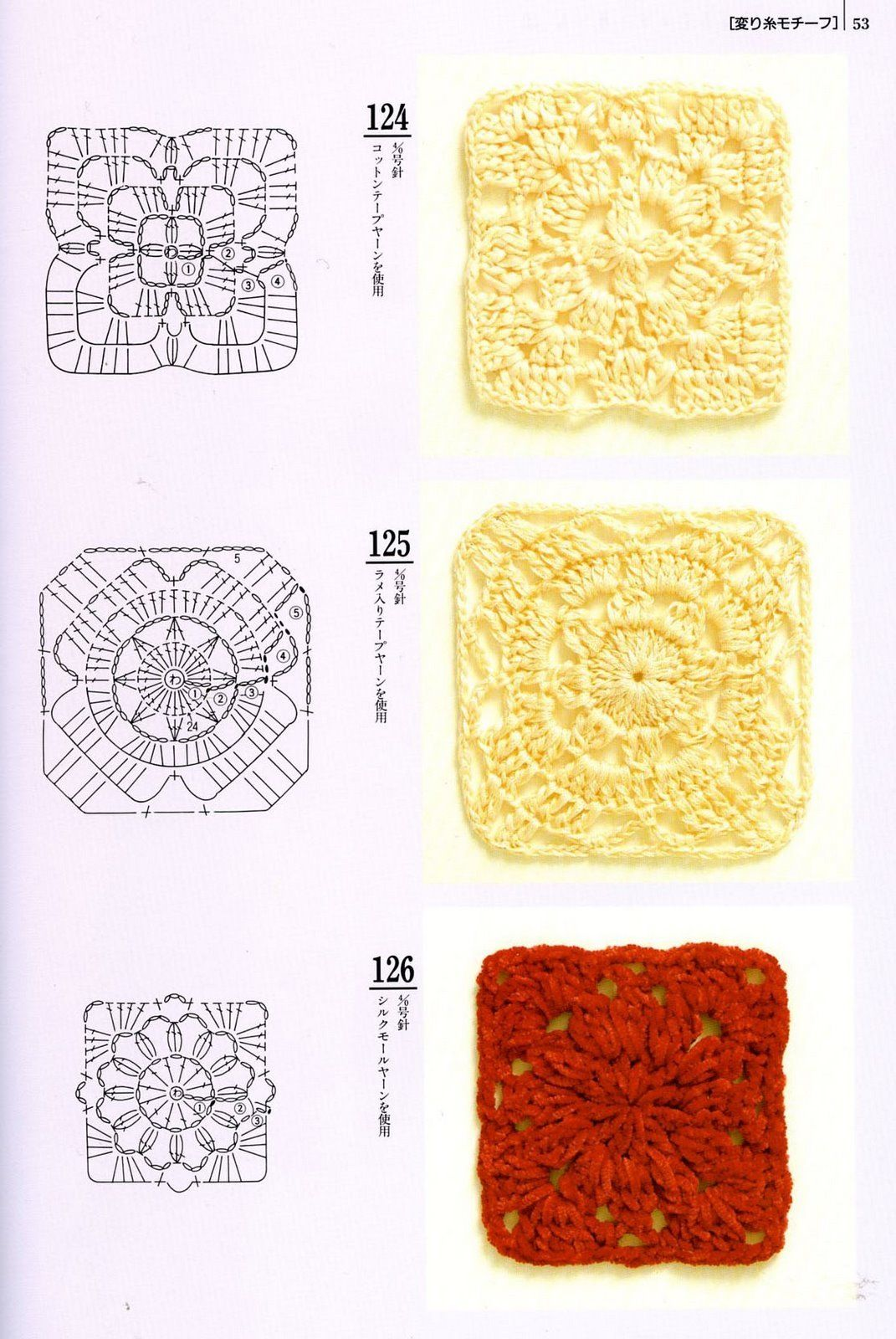 crochet granny square diagram 69 firebird wiring squares cuadrados a patrones tejedorita