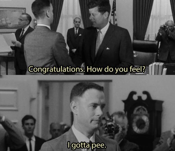 which presidents does forrest gump meet in the film